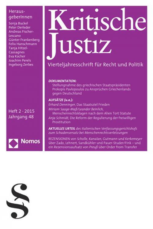 Hans Jörg Sandkühler, Recht und Staat nach menschlichem Maß, Weilerswist 2013 cover
