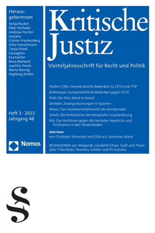 Die Bilanz kann nicht zufriedenstellen - Ein Gespräch mit OStA a.D. Johannes Warlo  cover