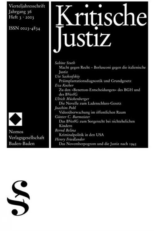 Das Novemberprogrom und die Justiz nach 1945 cover
