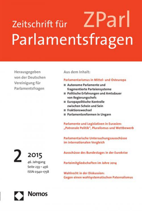 Parliamentary Party Switching: A Specific Feature of Post-Communist Parliamentarism? cover