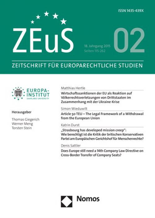 Does Europe still need a 14th Company Law Directive on Cross-Border Transfer of Company Seats? cover