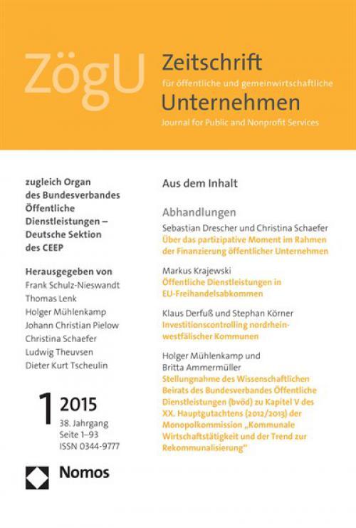 Investitionscontrolling nordrhein-westfälischer Kommunen cover