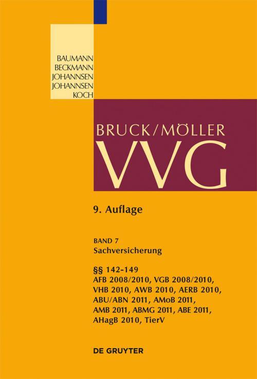 Sachversicherung, §§ 142-149 cover