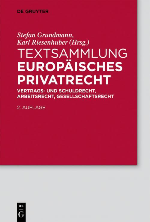 Textsammlung Europäisches Privatrecht cover