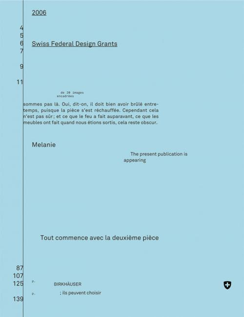Eidgenössische Förderpreise für Design 2006, Bourses fédérales de design 2006, Swiss Federal Design Grants 2006 cover