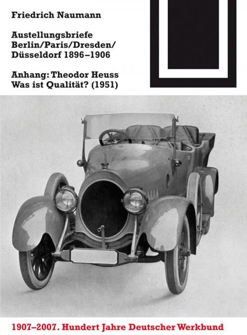 Ausstellungsbriefe Berlin, Paris, Dresden, Düsseldorf 1896-1906 cover