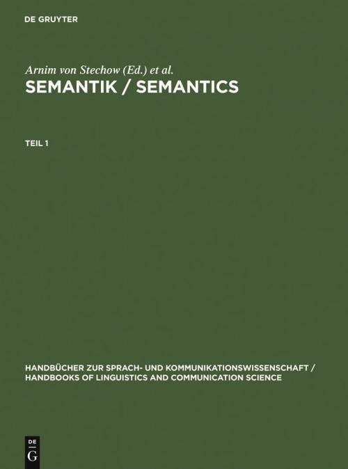 Semantik / Semantics cover