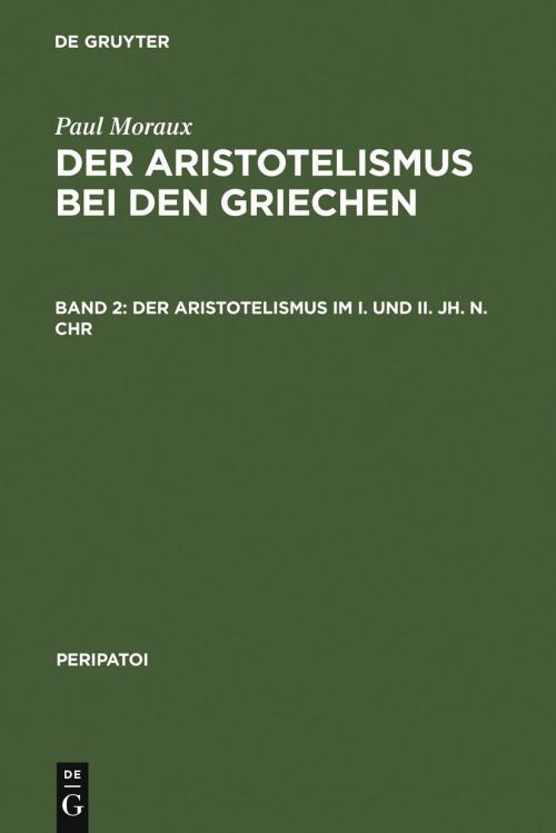 Der Aristotelismus im I. und II. Jh. n.Chr cover