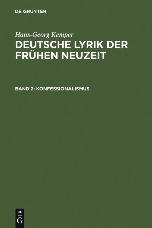 Konfessionalismus cover