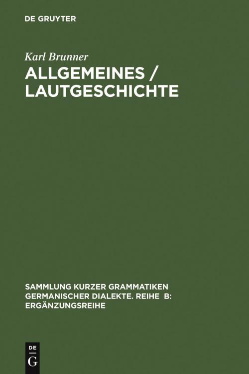 Allgemeines / Lautgeschichte cover