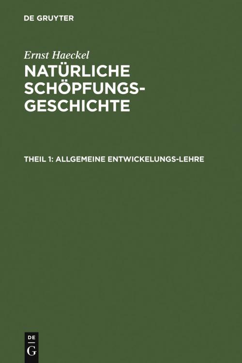 Allgemeine Entwickelungs-Lehre cover