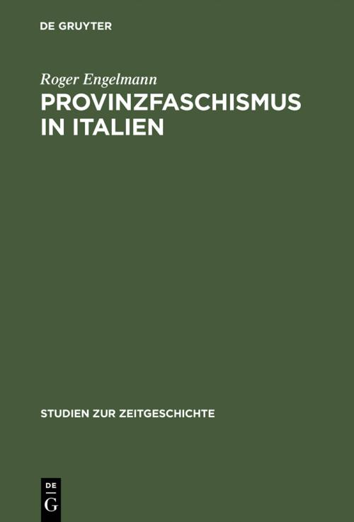 Provinzfaschismus in Italien cover