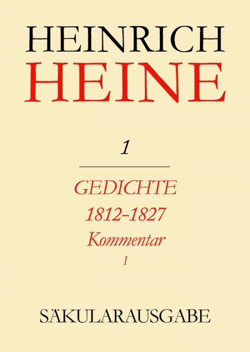 Gedichte 1812-1827. Kommentar cover