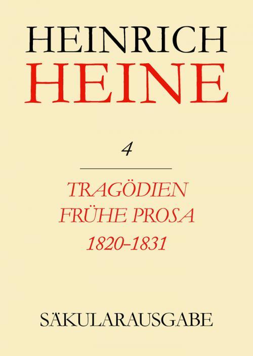 Tragödien. Frühe Prosa 1820-1831 cover