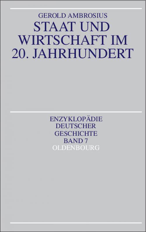 Staat und Wirtschaft im 20. Jahrhundert cover