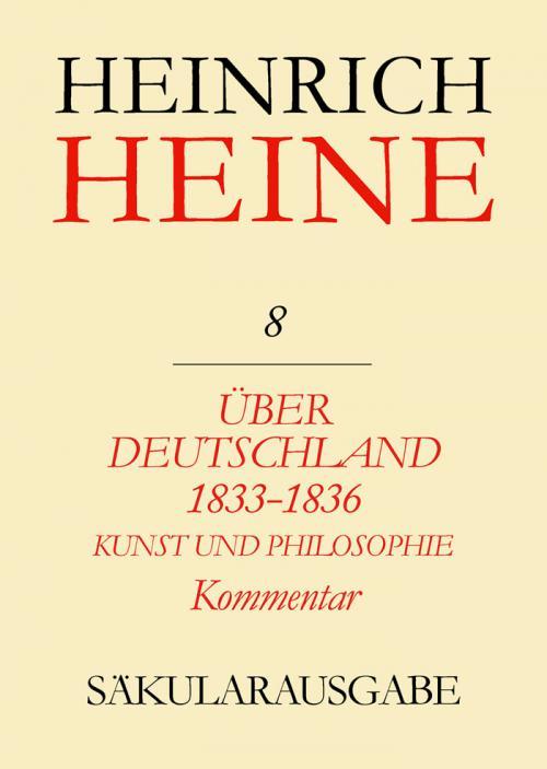 Über Deutschland 1833-1836. Aufsätze über Kunst und Philosophie. Kommentar cover