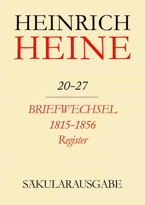 Briefwechsel 1815-1856. Register cover
