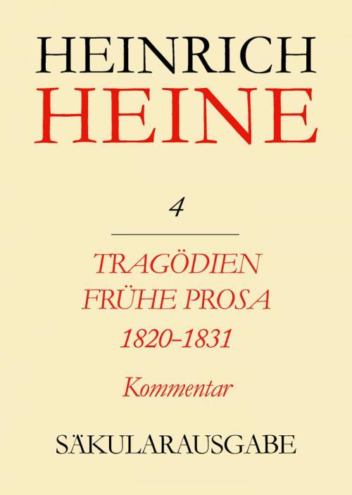 Tragödien. Frühe Prosa 1820-1831. Kommentar cover