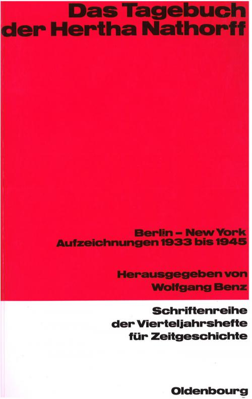 Das Tagebuch der Hertha Nathorff cover