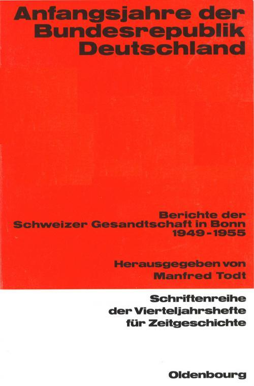 Anfangsjahre der Bundesrepublik cover