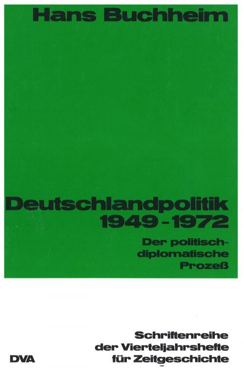 Deutschlandpolitik 1949-1972 cover