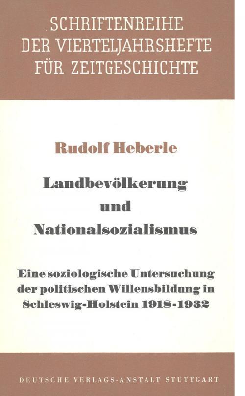Landbevölkerung und Nationalsozialismus cover