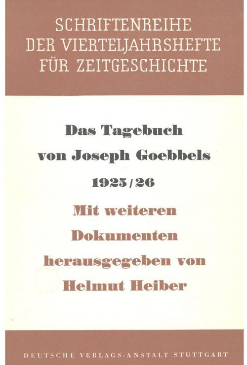 Das Tagebuch von Joseph Goebbels 1925-1926 cover