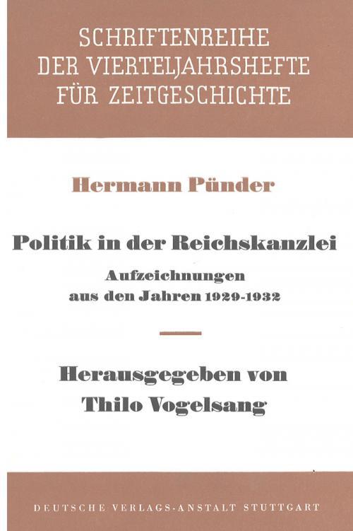 Politik in der Reichskanzlei cover