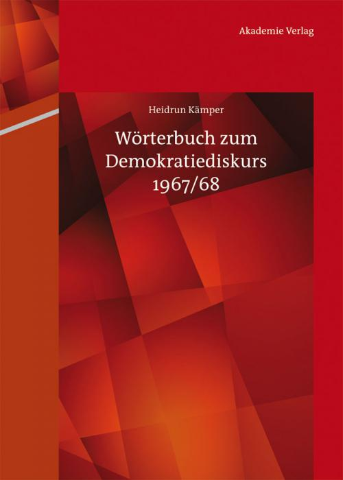 Wörterbuch zum Demokratiediskurs 1967/68 cover