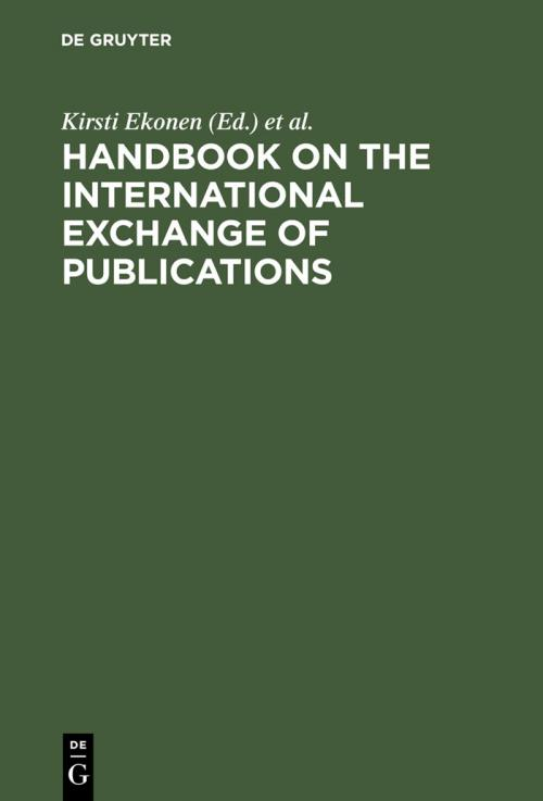 Handbook on the International Exchange of Publications cover