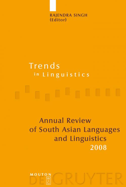 Annual Review of South Asian Languages and Linguistics cover