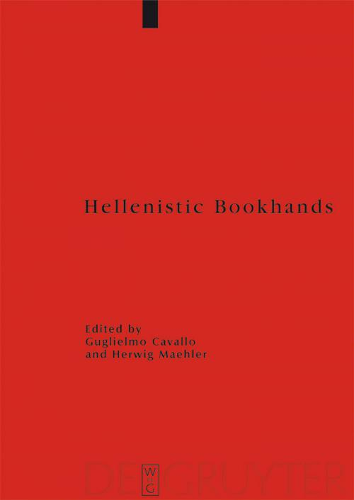 Hellenistic Bookhands cover