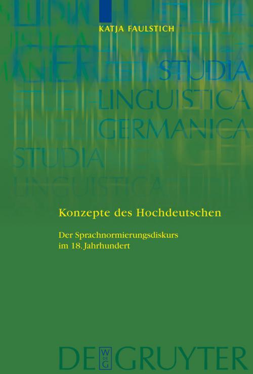 Konzepte des Hochdeutschen cover