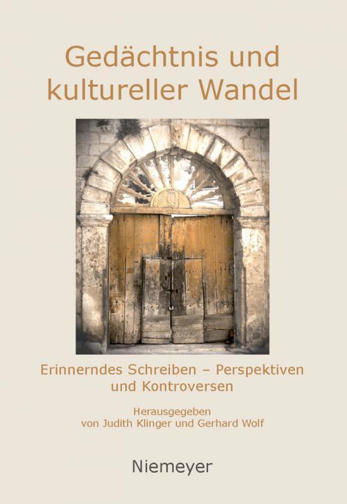 Gedächtnis und kultureller Wandel cover