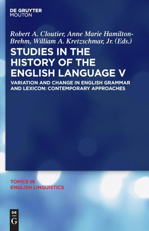 Studies in the History of the English Language V cover