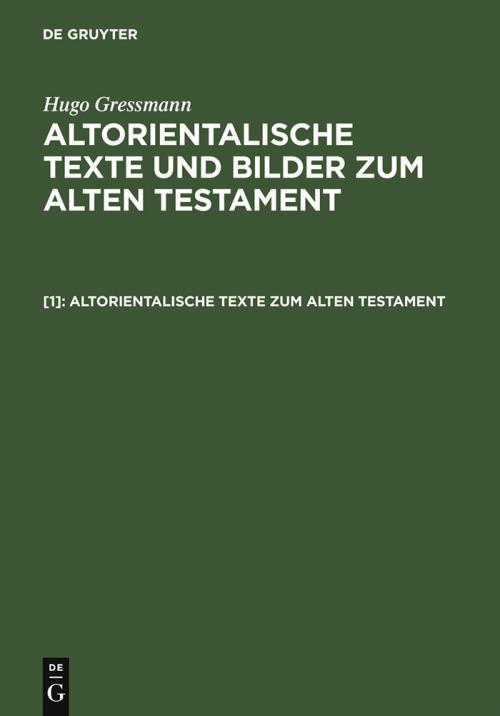 Altorientalische Texte zum Alten Testament cover