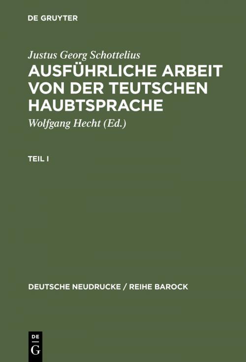 Ausführliche Arbeit von der teutschen HaubtSprache cover