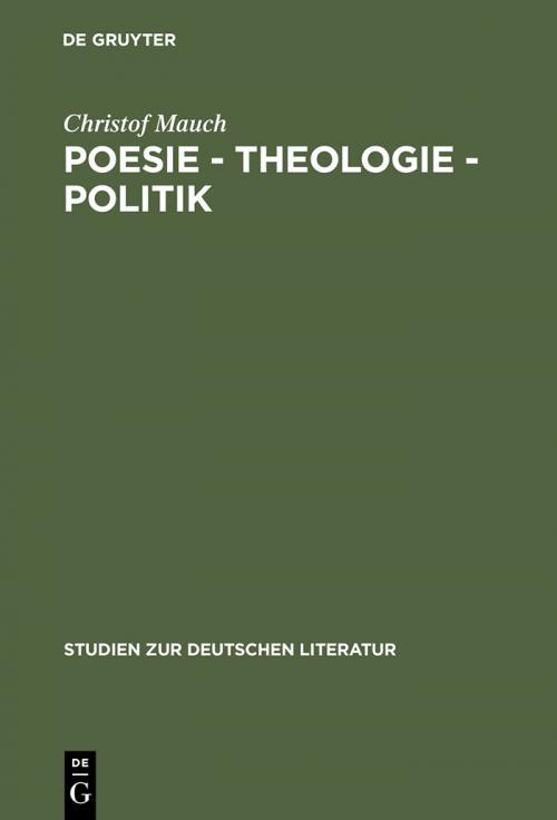 Poesie - Theologie - Politik cover