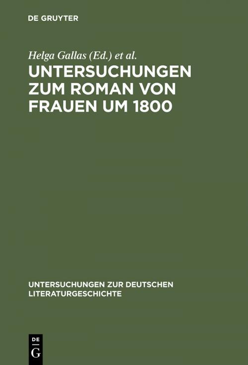 Untersuchungen zum Roman von Frauen um 1800 cover