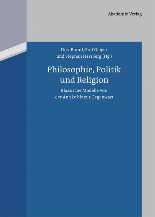 Philosophie, Politik und Religion cover