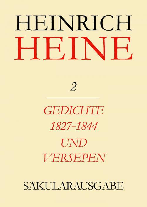 Gedichte 1827-1844 und Versepen cover