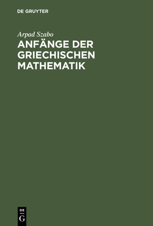 Anfänge der griechischen Mathematik cover