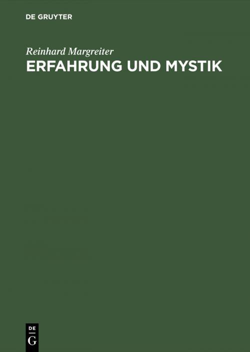 Erfahrung und Mystik cover