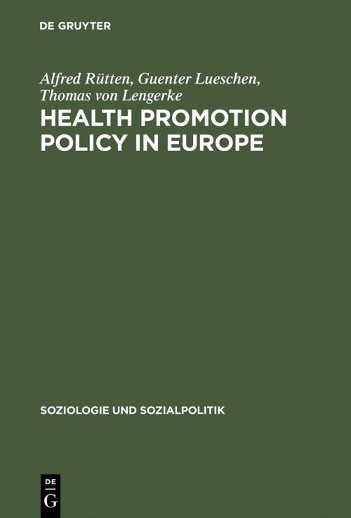Health Promotion Policy in Europe cover