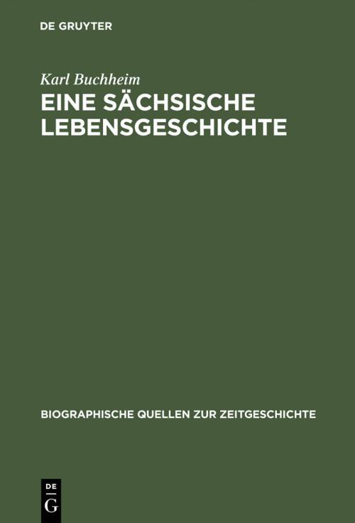 Eine sächsische Lebensgeschichte cover