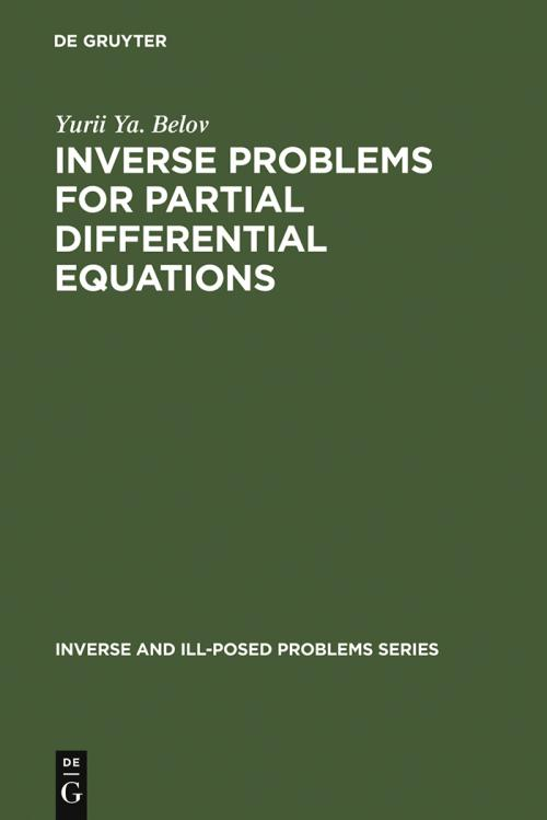 Inverse Problems for Partial Differential Equations cover