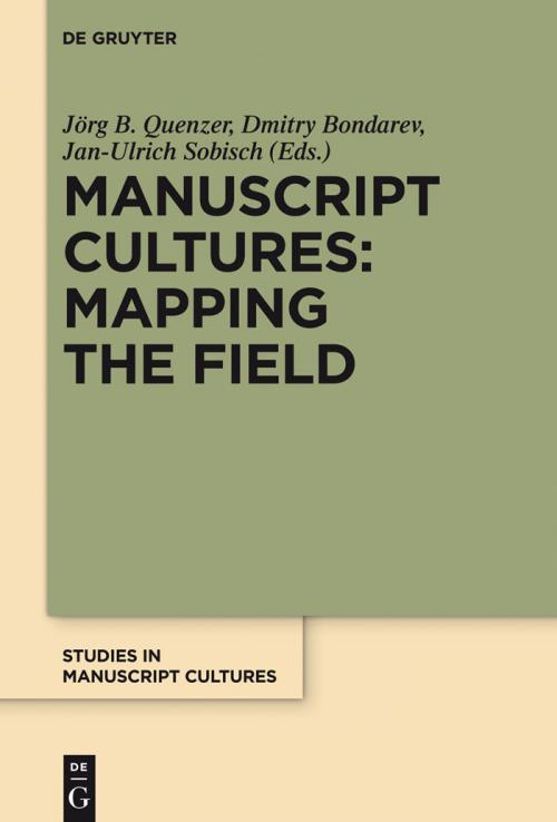 Manuscript Cultures: Mapping the Field cover