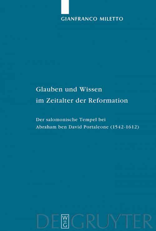 Glauben und Wissen im Zeitalter der Reformation cover