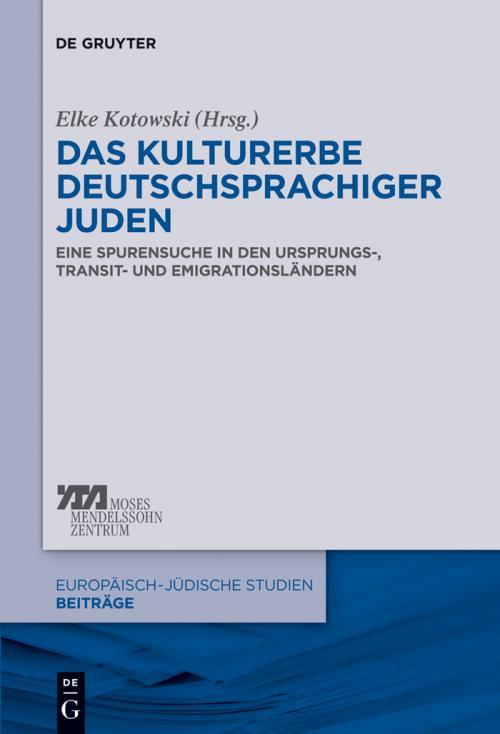 Das Kulturerbe deutschsprachiger Juden cover