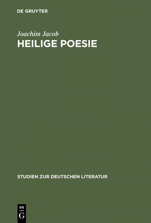 Heilige Poesie cover